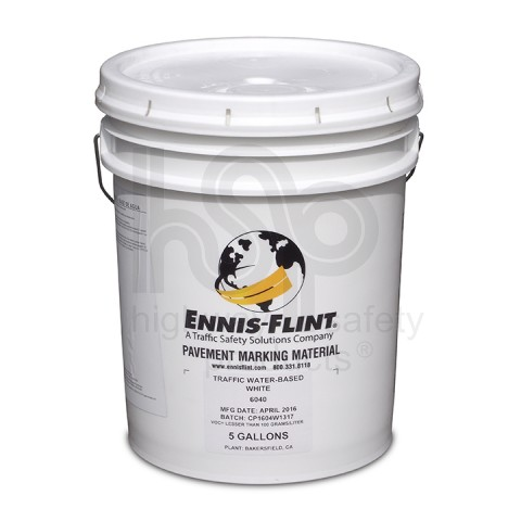 White Water Based Striping Paint